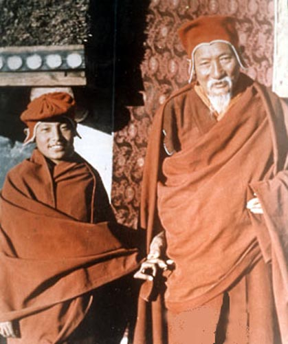 His Holiness Gyalwang Drukpa and his teacher Thuksey Rinpoche